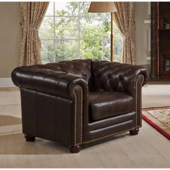 Kensington Leather Chair Design Old Amax Top Grain Chesterfield Sofa And