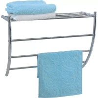 Evideco Wall Mounted Bath Shelf and Towel Rack & Reviews