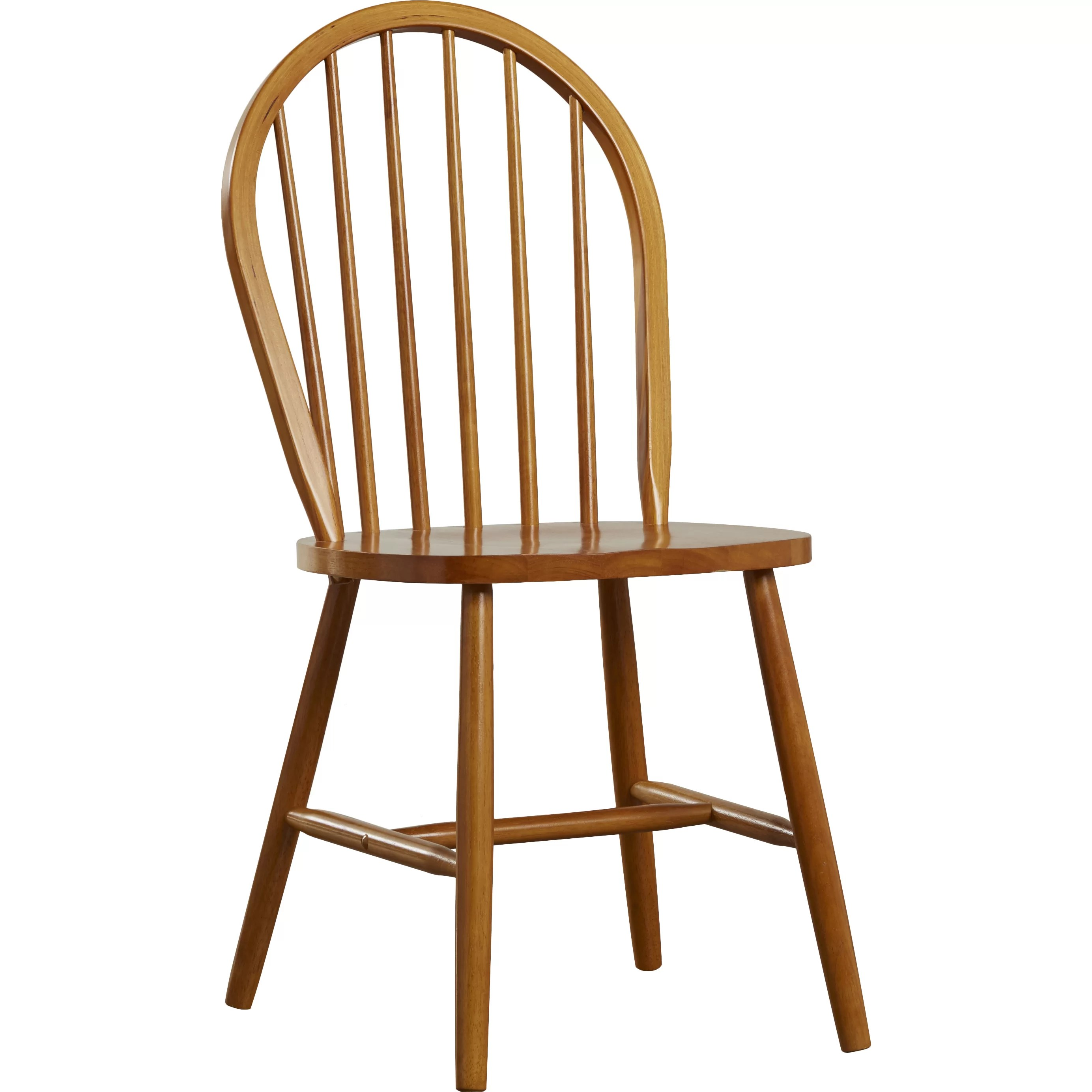 Wood Dining Chair Andover Mills Maguire Solid Rubberwood Dining Chair