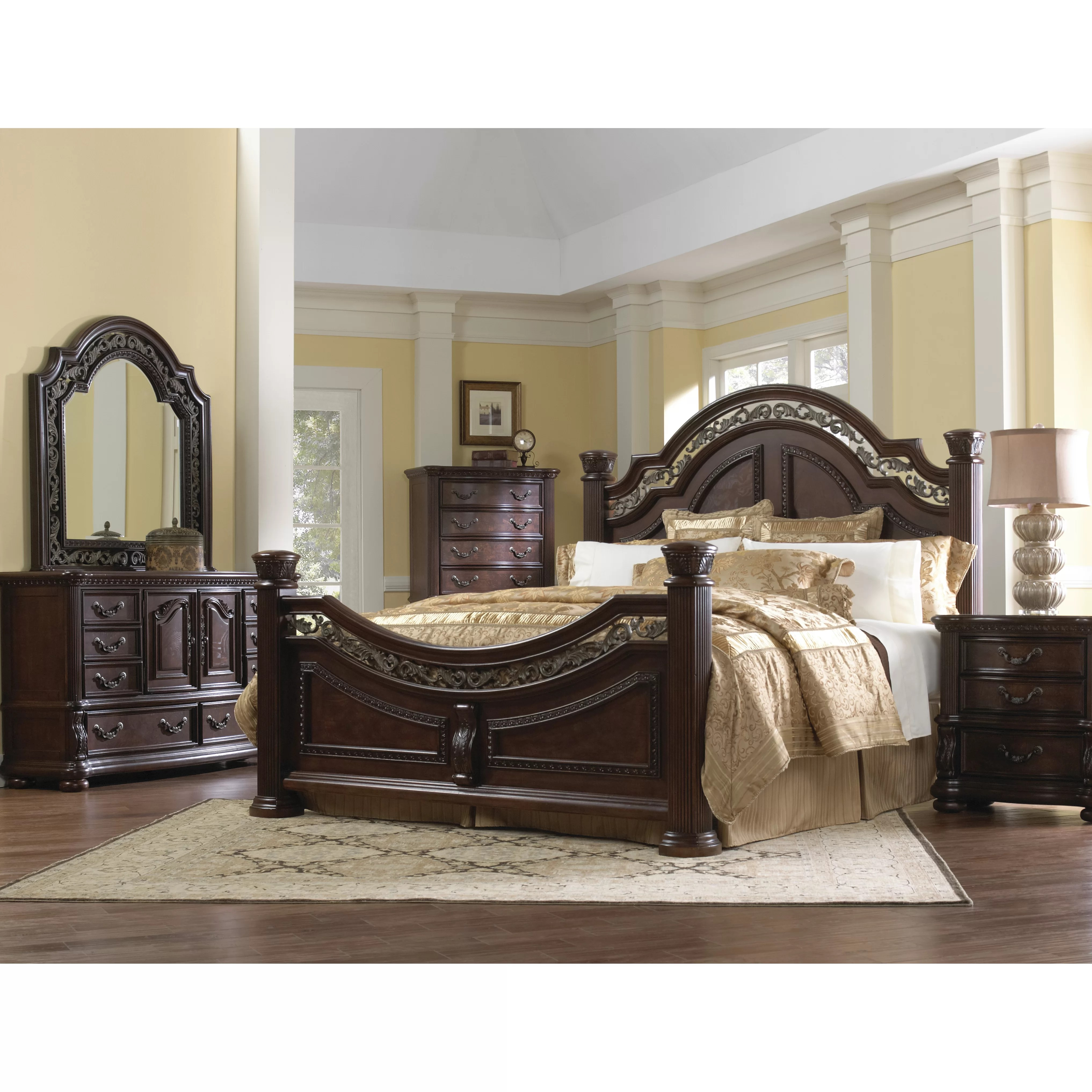 Samuel Lawrence San Marino Sleigh Customizable Bedroom Set