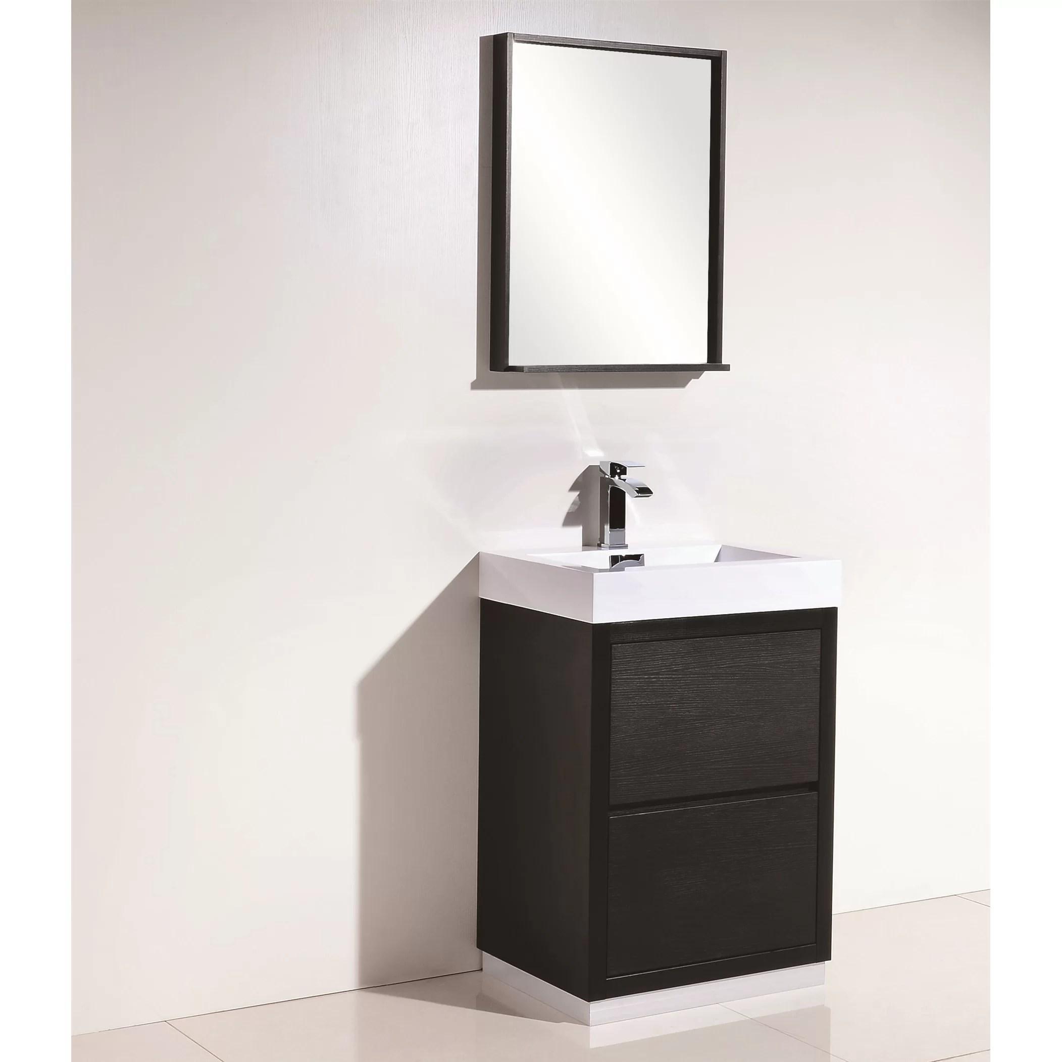 Kube Bath Bliss 24 Single Free Standing Modern Bathroom