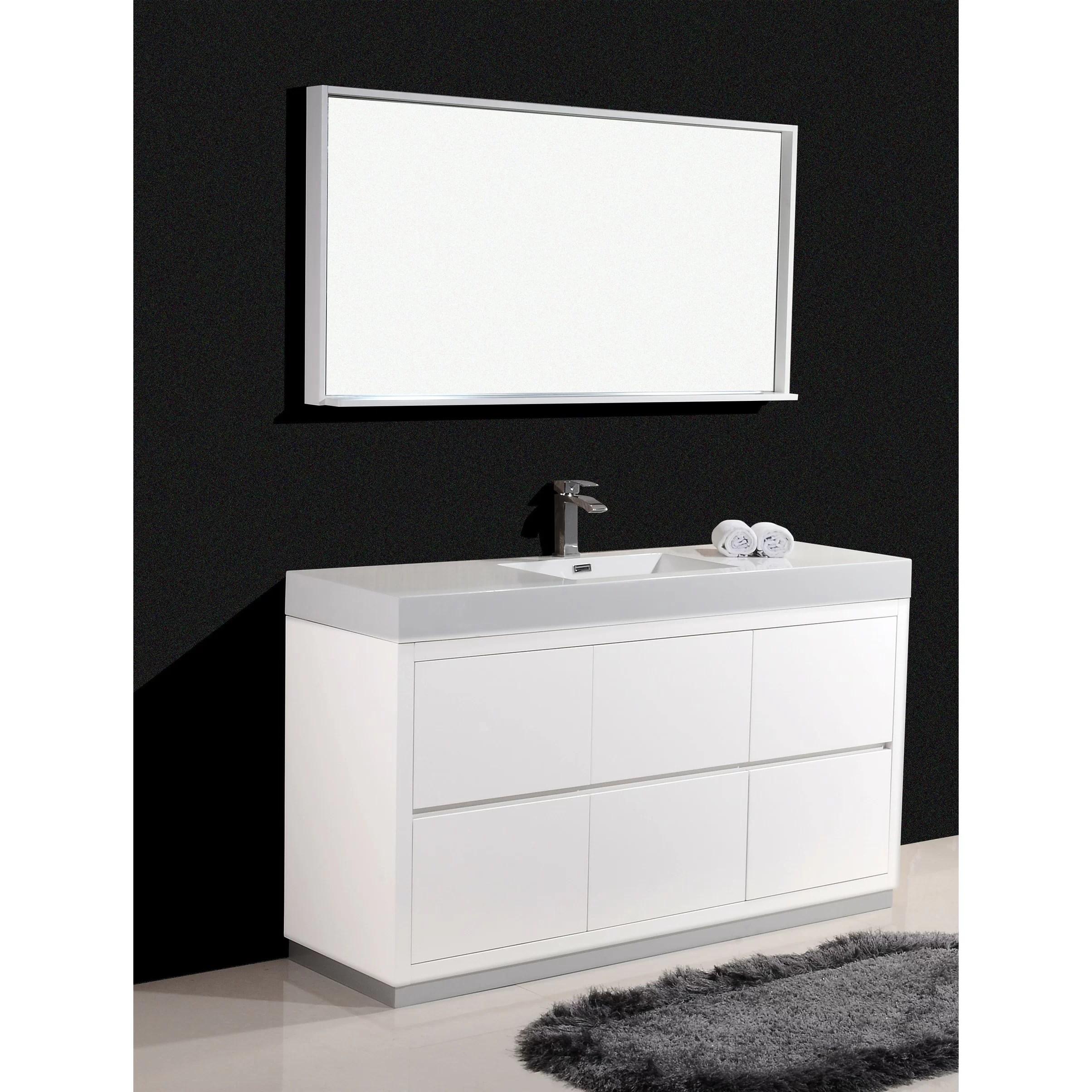 Kube Bath Bliss 60 Single Free Standing Modern Bathroom
