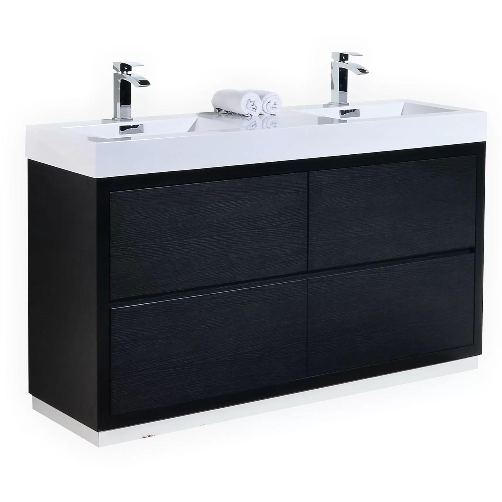 Kube Bath Bliss 60 Double Free Standing Modern Bathroom