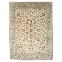 Meridian Rugmakers Hand-Knotted Beige Area Rug | Wayfair