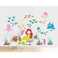 Wall Decal Source Mermaid, Under the Sea and Ocean Nursery ...