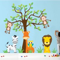 Wall Decal Source Nursery Jungle, Tree, Giraffe and Safari
