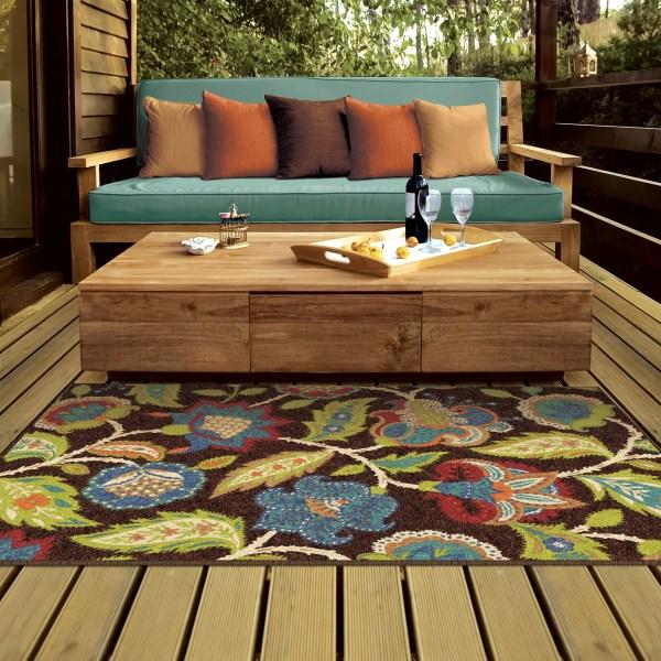 outdoor patio rug Threadbind Orwell Brown Indoor/Outdoor Area Rug & Reviews