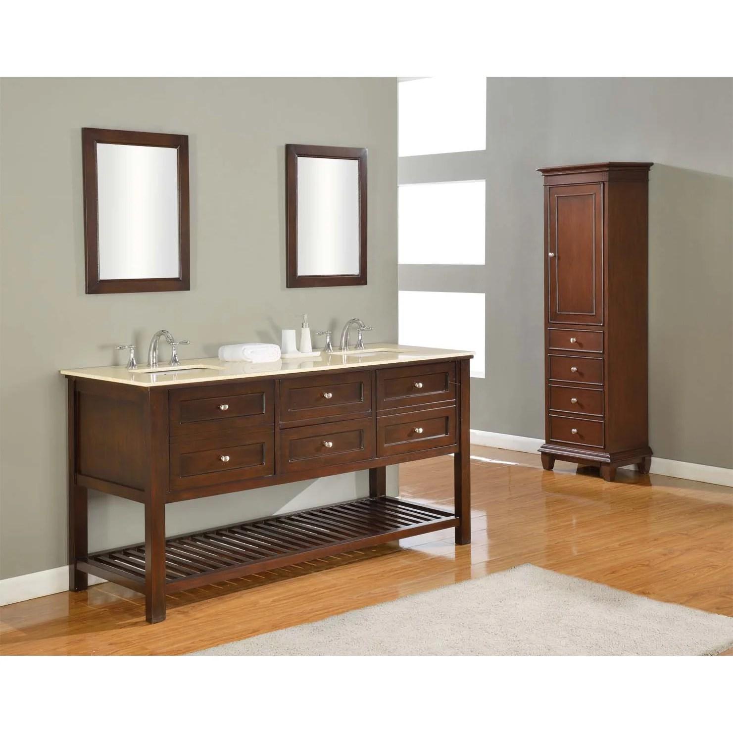 Direct Vanity Sink Mission Spa 70 Double Bathroom Vanity