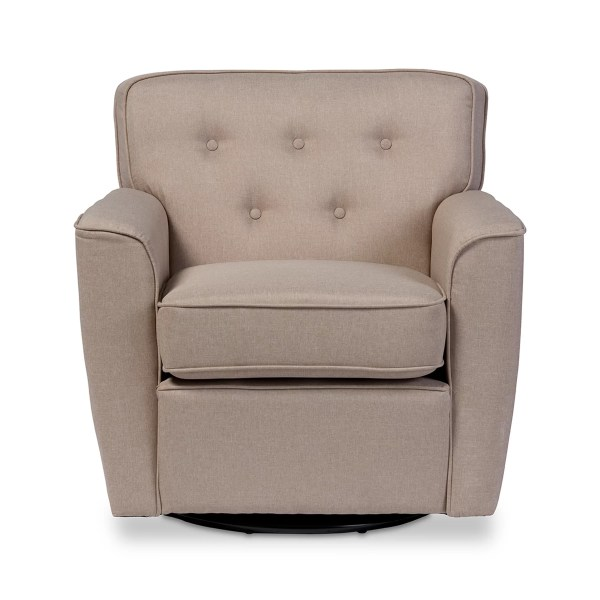 Swivel Upholstered Club Chairs
