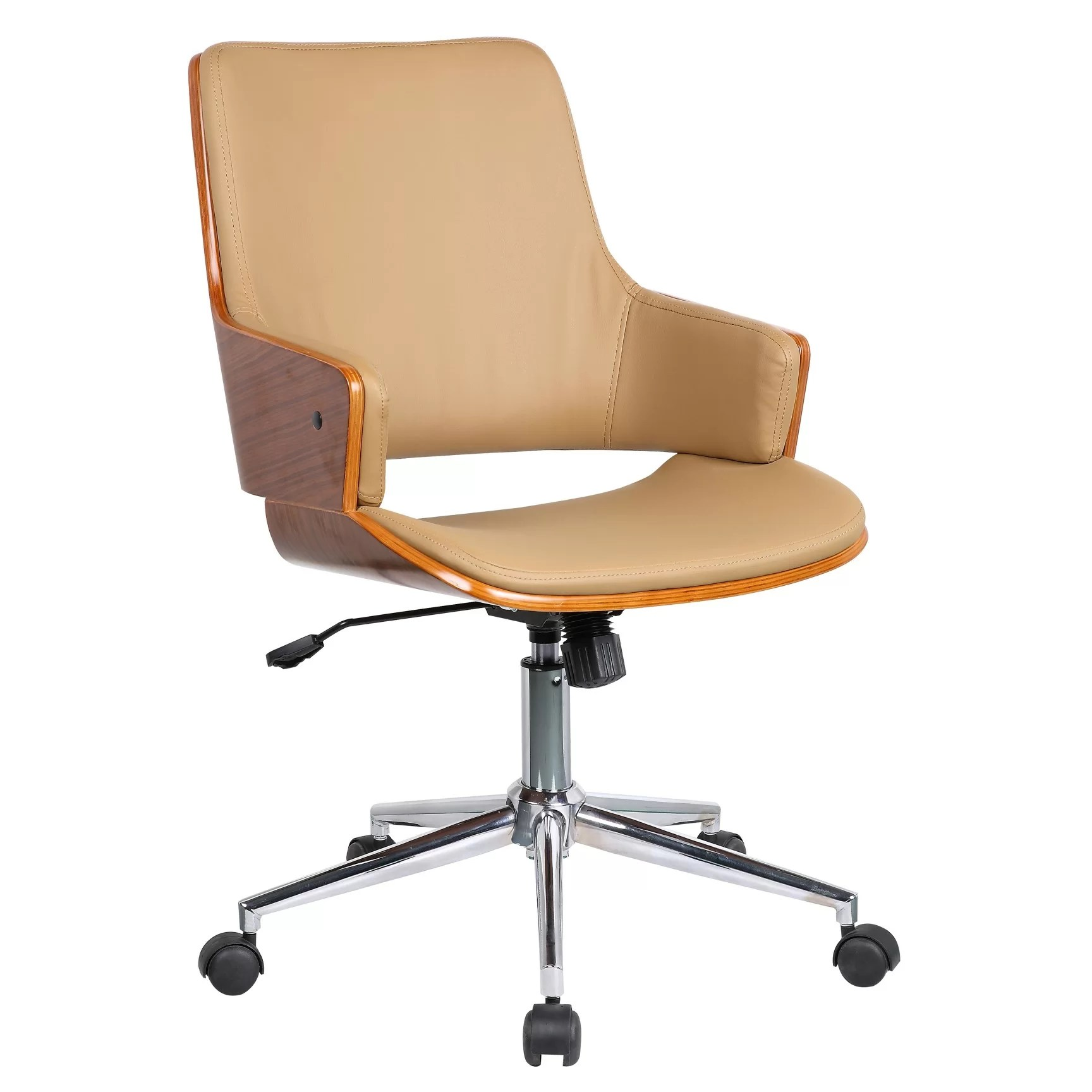 Office Chair With Arms Porthos Home Solene High Back Leather Office Chair With