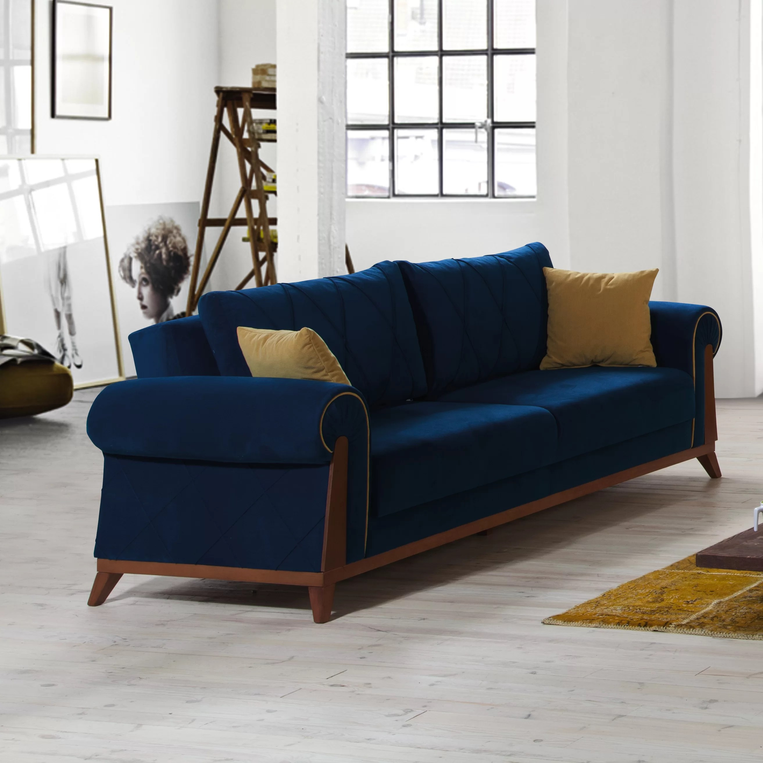 sofa bed next day delivery london black country table perla furniture sleeper and reviews wayfair