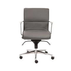 Office Chair Arms Revolving Wiki Eurostyle Leif Low Back Leatherette With