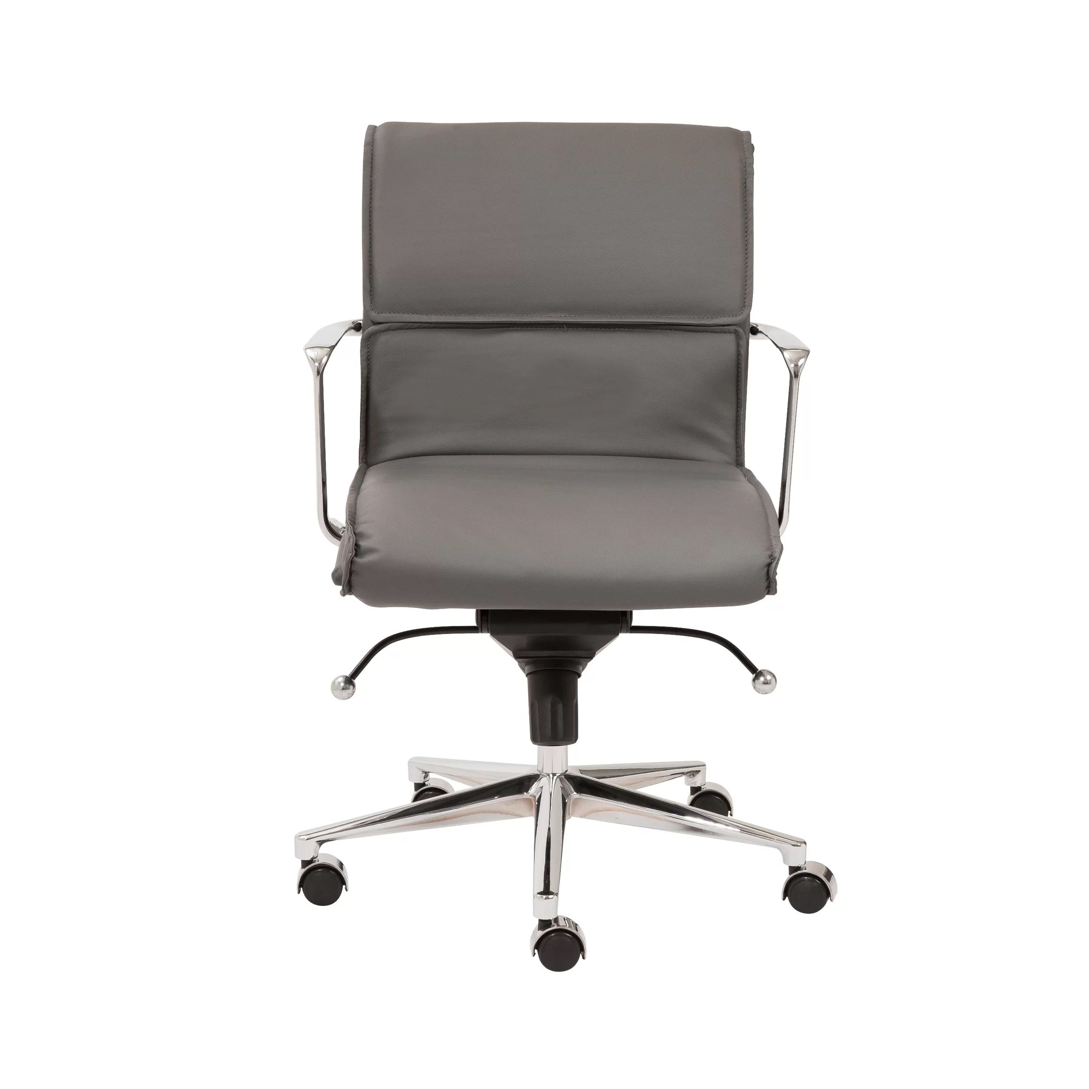 Office Chair With Arms Eurostyle Leif Low Back Leatherette Office Chair With Arms