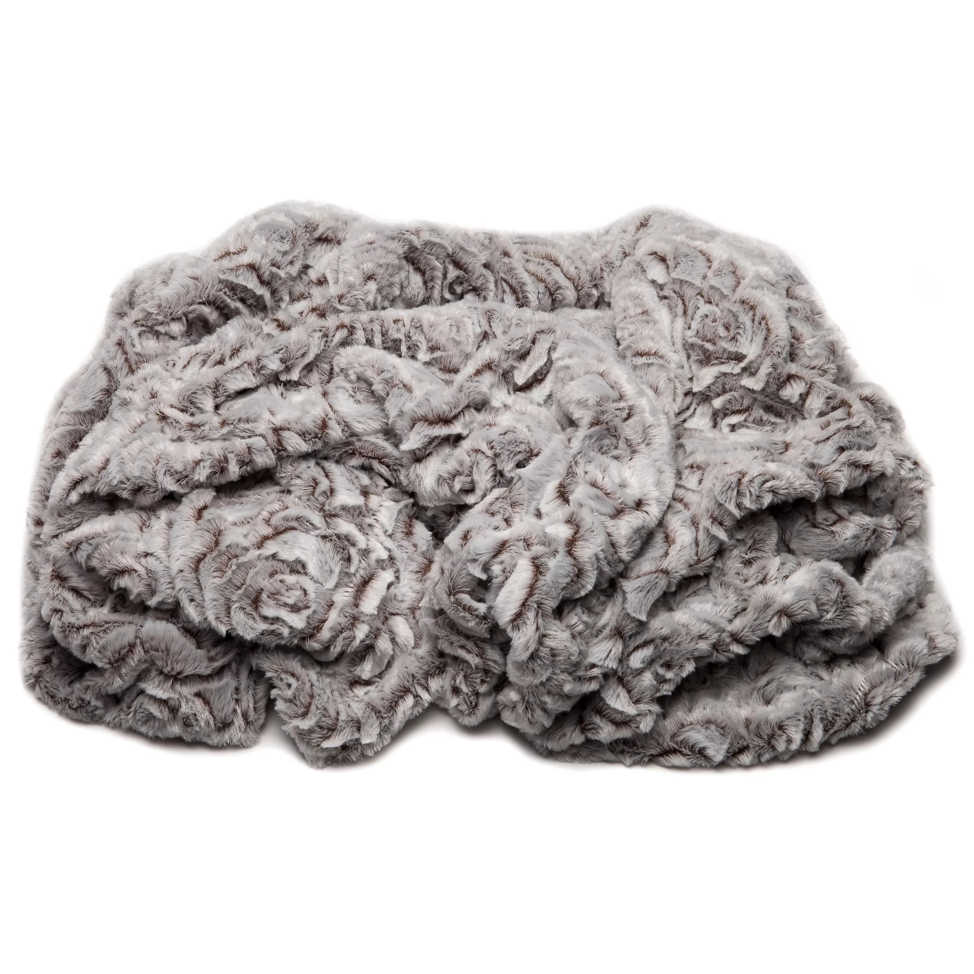 Chanasya Super Soft Cozy Flower Shape Embossed Beige Creme