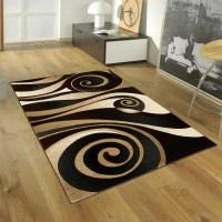 AllStar Rugs Floral Spiral Black/Brown Area Rug & Reviews ...