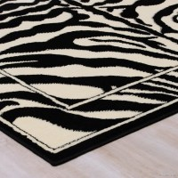 AllStar Rugs Hand-Tufted White/Black Area Rug & Reviews ...