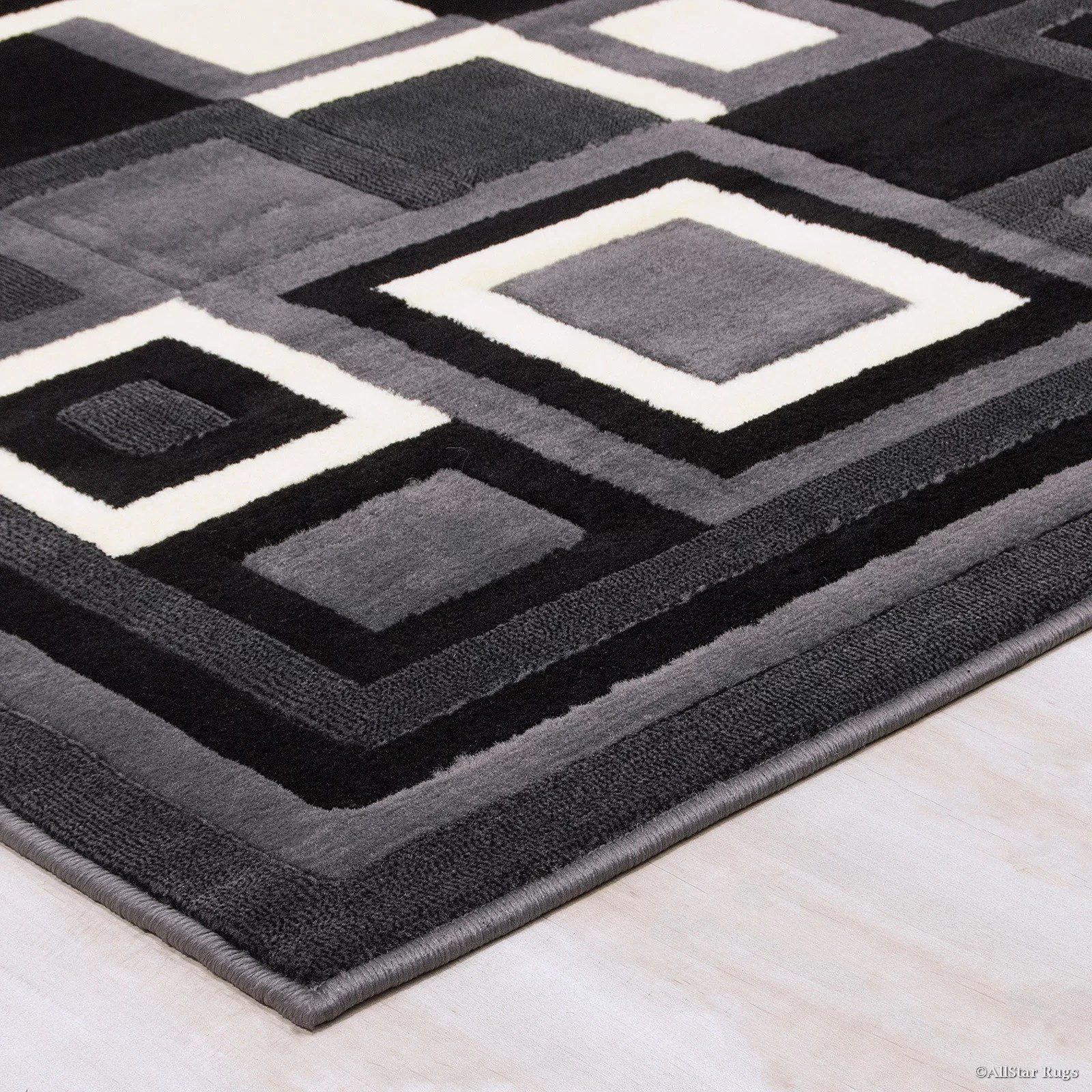 Black White And Grey Area Rugs; Smileydotus