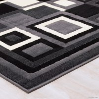 AllStar Rugs Hand-Woven Grey/Black Area Rug & Reviews ...
