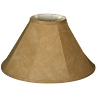 "RoyalDesigns 18"" Timeless Faux Leather Empire Lamp Shade ..."