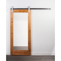 RusticaHardware Wood and Mirror 1-Panel Clear Coated ...