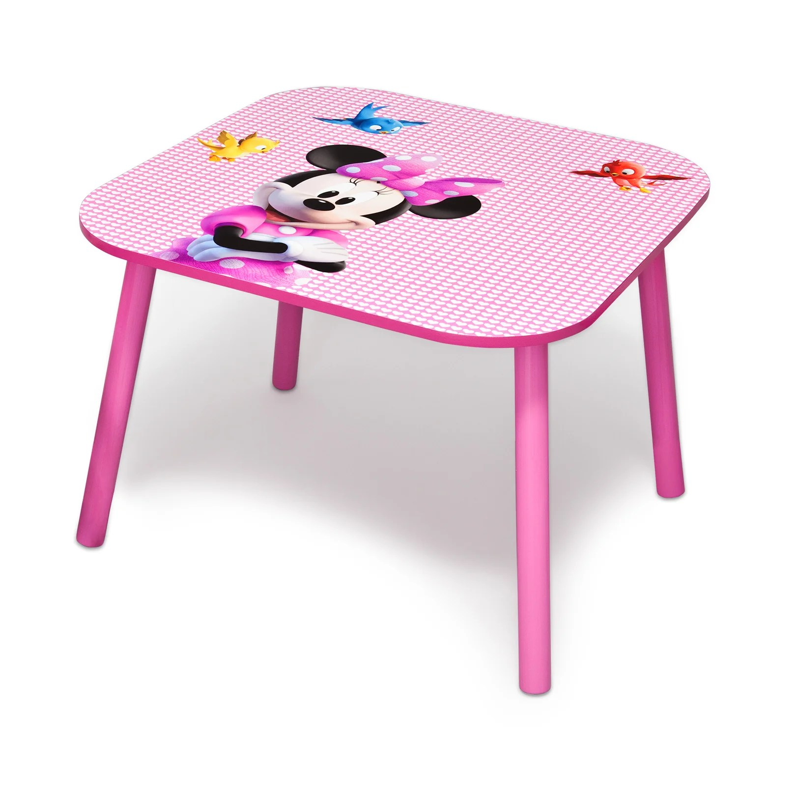 minnie table and chairs lawn chair usa deltachildrenuk children 3 piece square