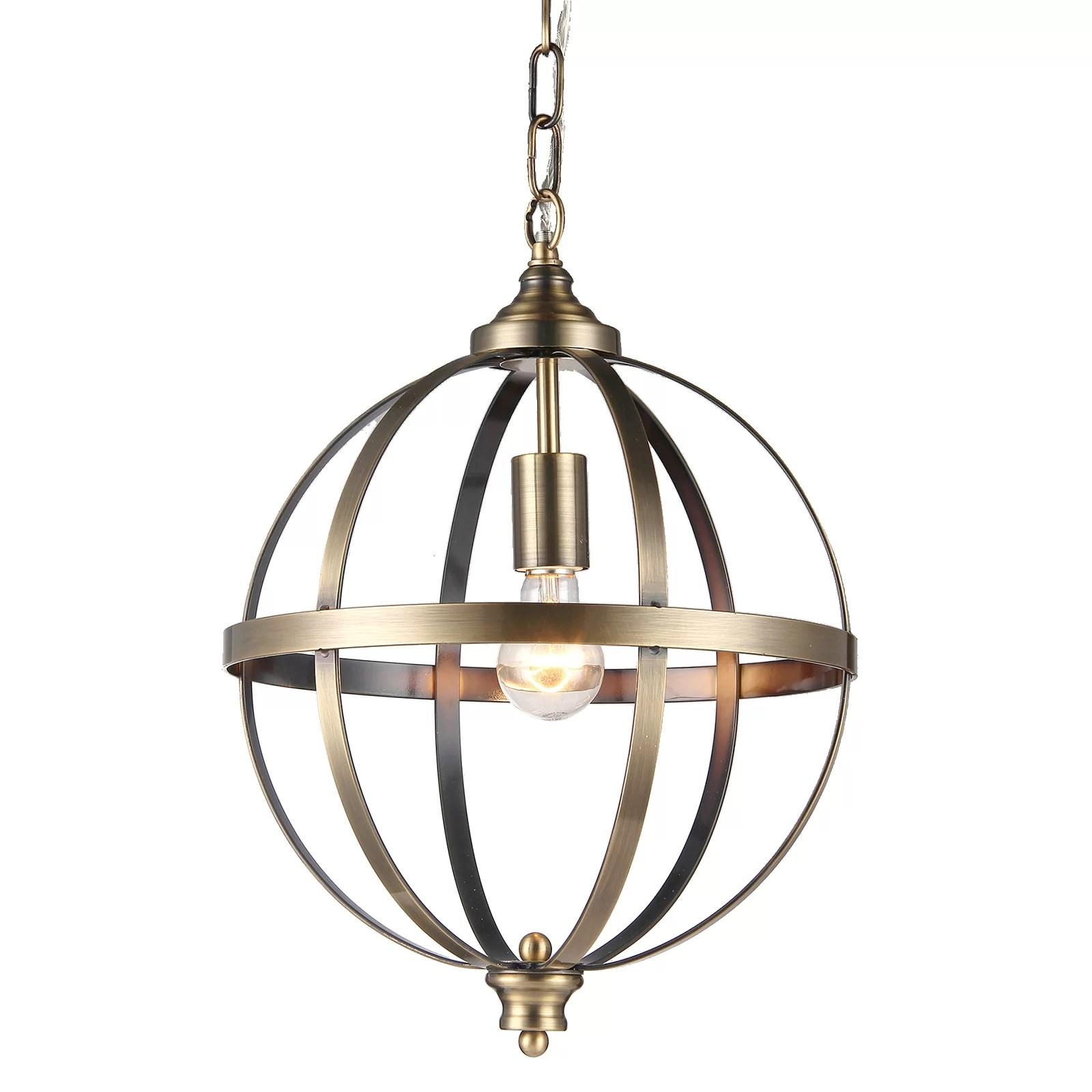 Edvivi 1 Light Globe Pendant  Wayfair
