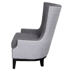 Nailhead Wingback Chair La Z Boy And A Half Porter International Designs Draper Arm