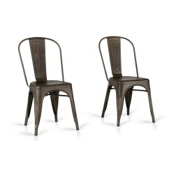 Metal Farmhouse Chairs Room And Board Swivel Chair Laurel Foundry Modern Drummond Rust Dining