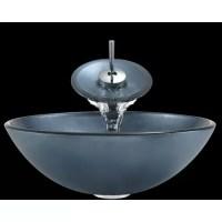 Polaris Sinks Hand-Painted Glass Circular Vessel Bathroom ...