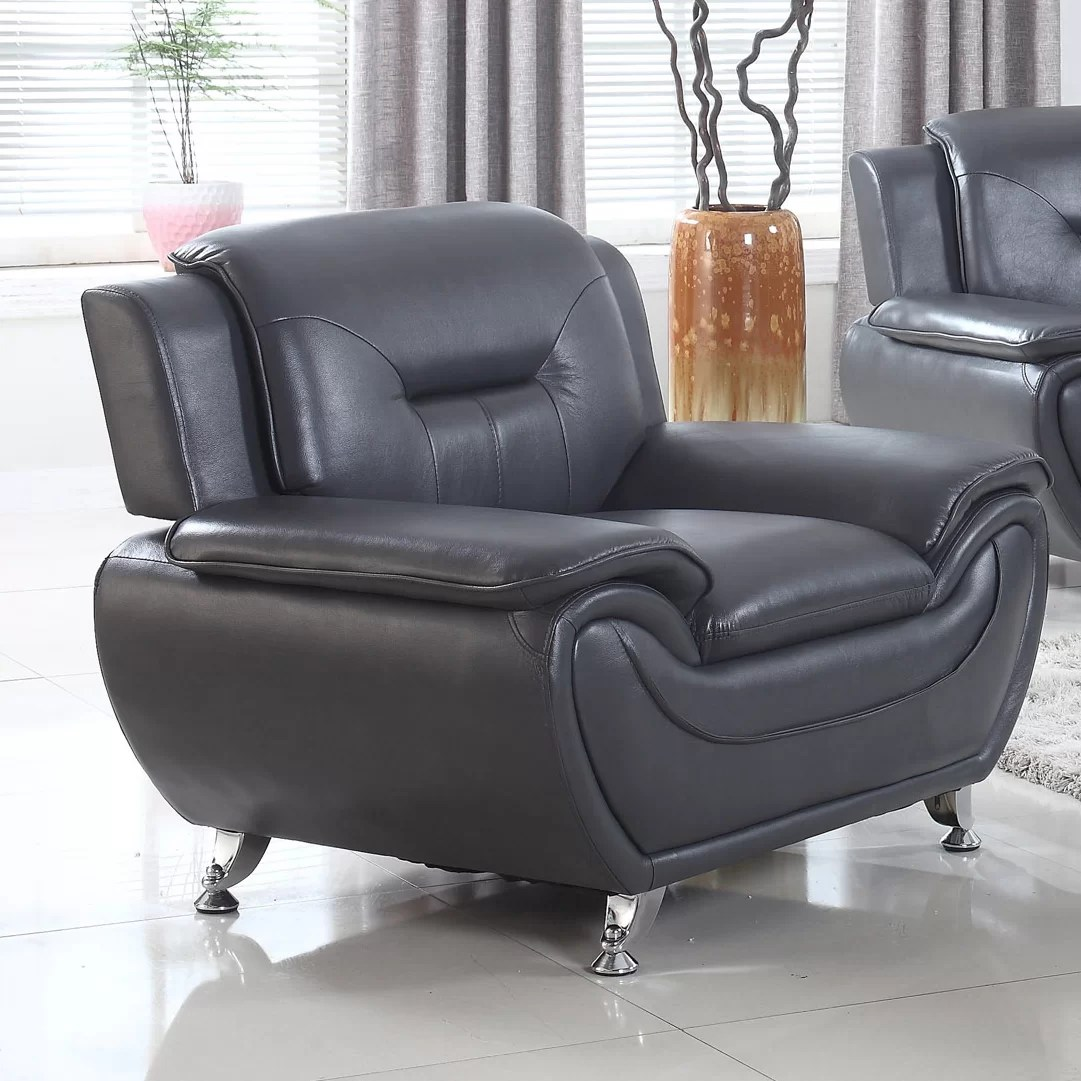 Leather Living Room Chair Pdaeinc Deliah Modern Living Room Club Chair Wayfair