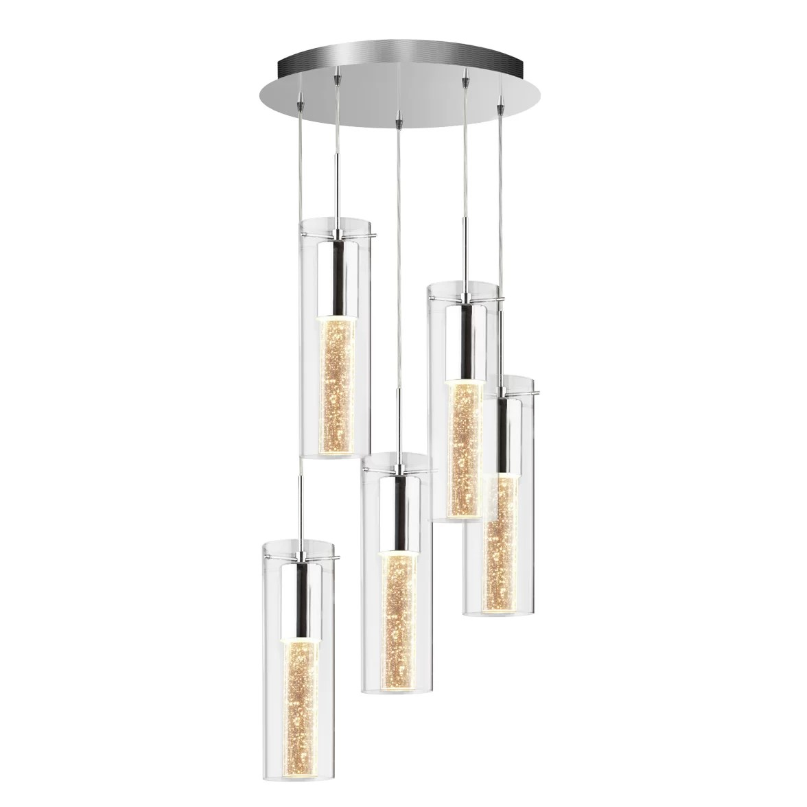 hanging chair rona how much is blue bay rum artika ampere champagne spiral 5 light pendant and reviews
