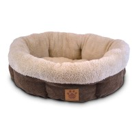 Precision Pet Natural Surroundings Shearling Dog Bed ...