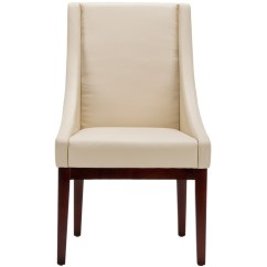 Cream Leather Accent Chairs Hanging Tree Chair Safavieh Sloping Side And Reviews Wayfair