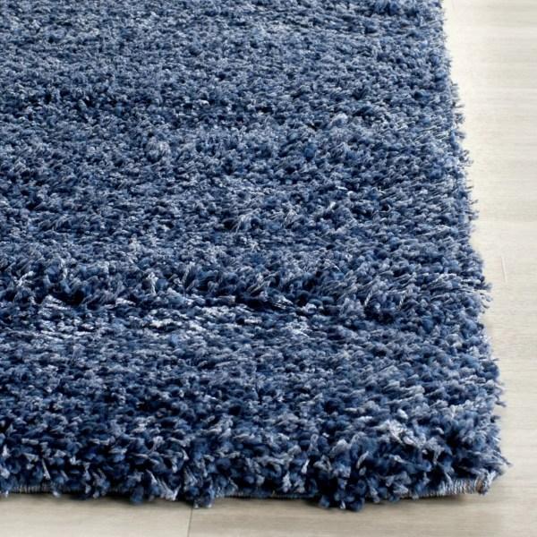 Safavieh Shag Navy Blue Solid Rug &