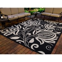 Safavieh Courtyard Black & Tan Indoor/Outdoor Area Rug