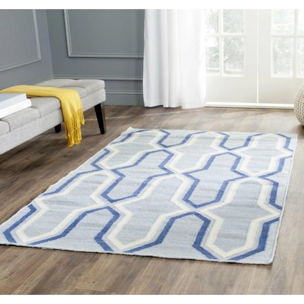 Safavieh Dhurries Blue Contemporary Area Rug &