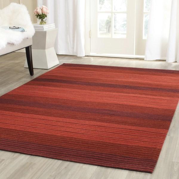 Safavieh Marbella Striped Contemporary Red Area Rug