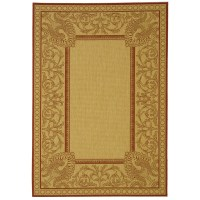 Safavieh Courtyard Natural / Red Outdoor Area Rug ...
