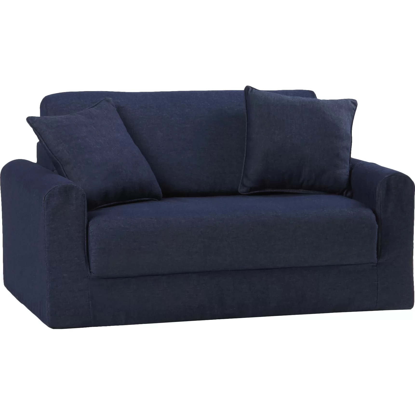 child sleeper sofa rattan corner argos fun furnishings children 39s suede and reviews