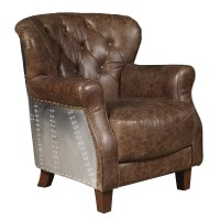 Highway Chief Leather Accent Chair | Wayfair.ca