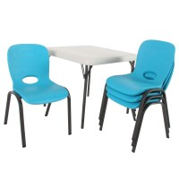 Lifetime Armeless Contemporary Childrens Stacking Chair ...