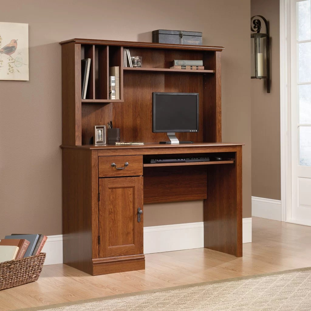 Sauder Camden County 435 W Computer Desk with Hutch