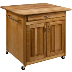 Butcher Block Top Kitchen Island Omega Cabinets Catskill Craftsmen With