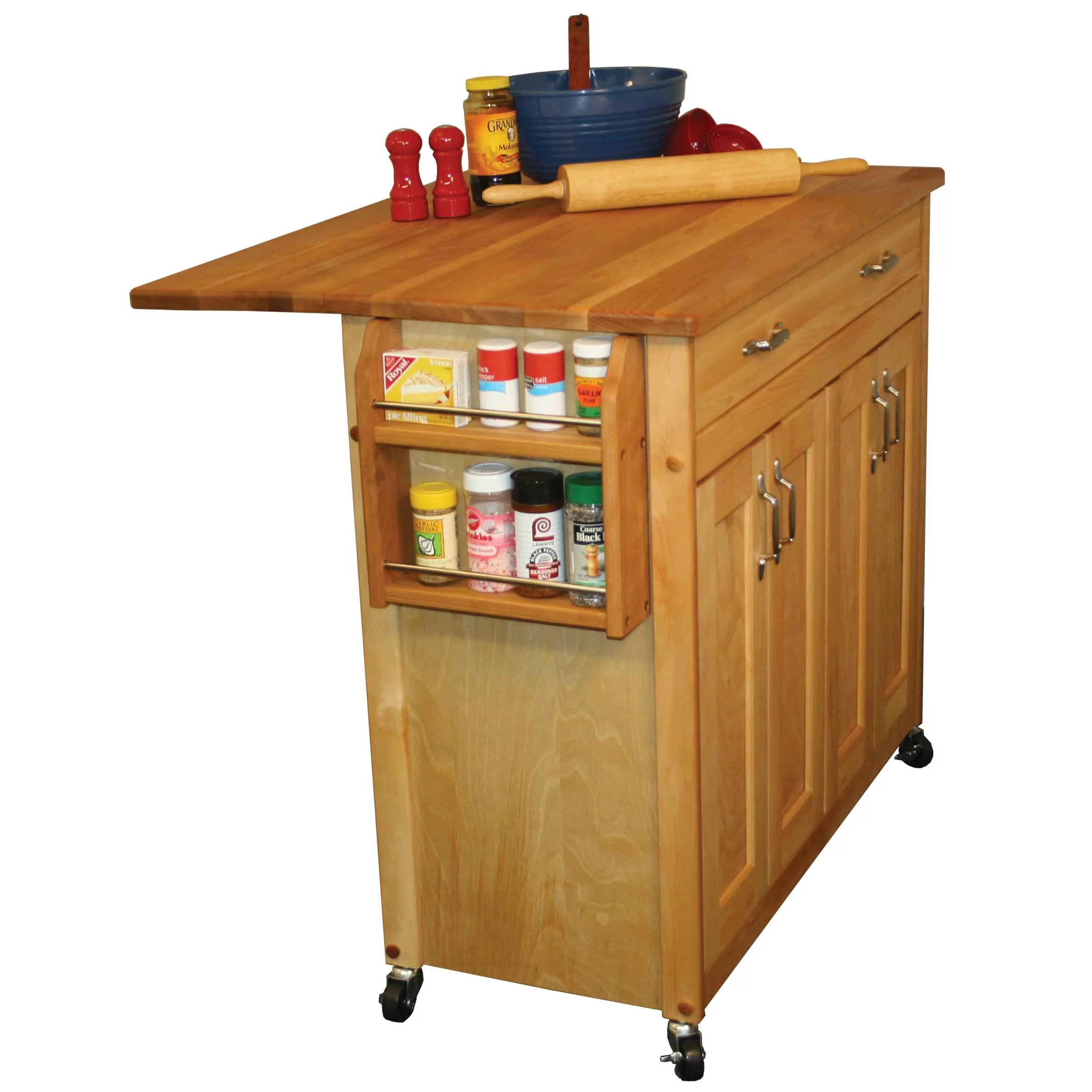 catskill craftsmen kitchen island cabinets st louis mid size with wood top