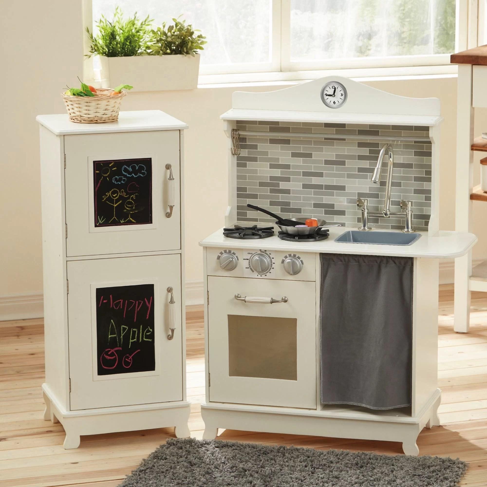 3 piece kitchen set model kitchens teamson kids sunday brunch wooden play