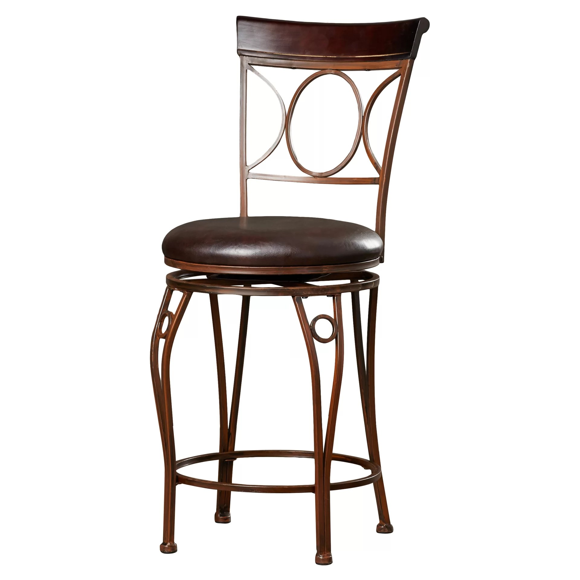 "Linon 24"" Swivel Bar Stool & Reviews"