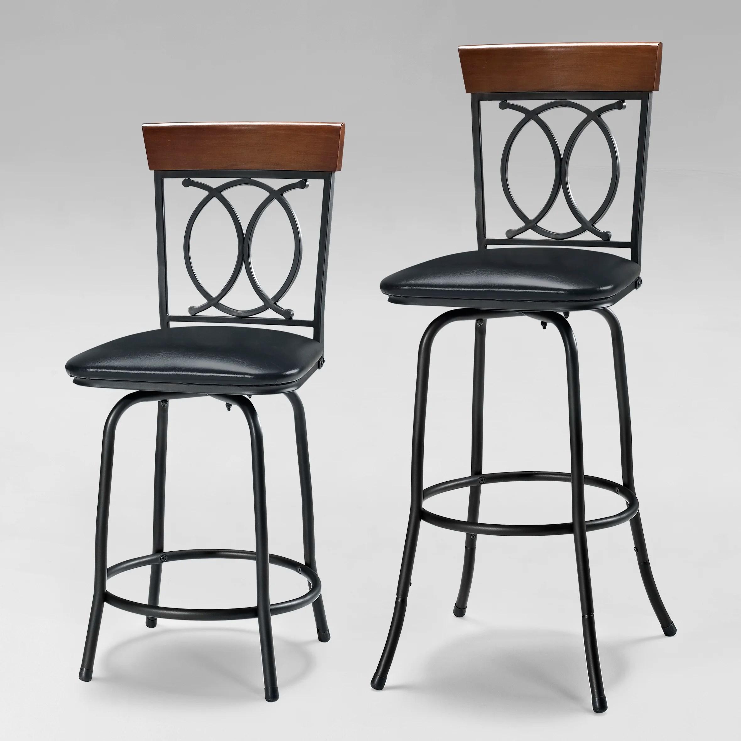 Linon Adjustable Height Bar Stool & Reviews