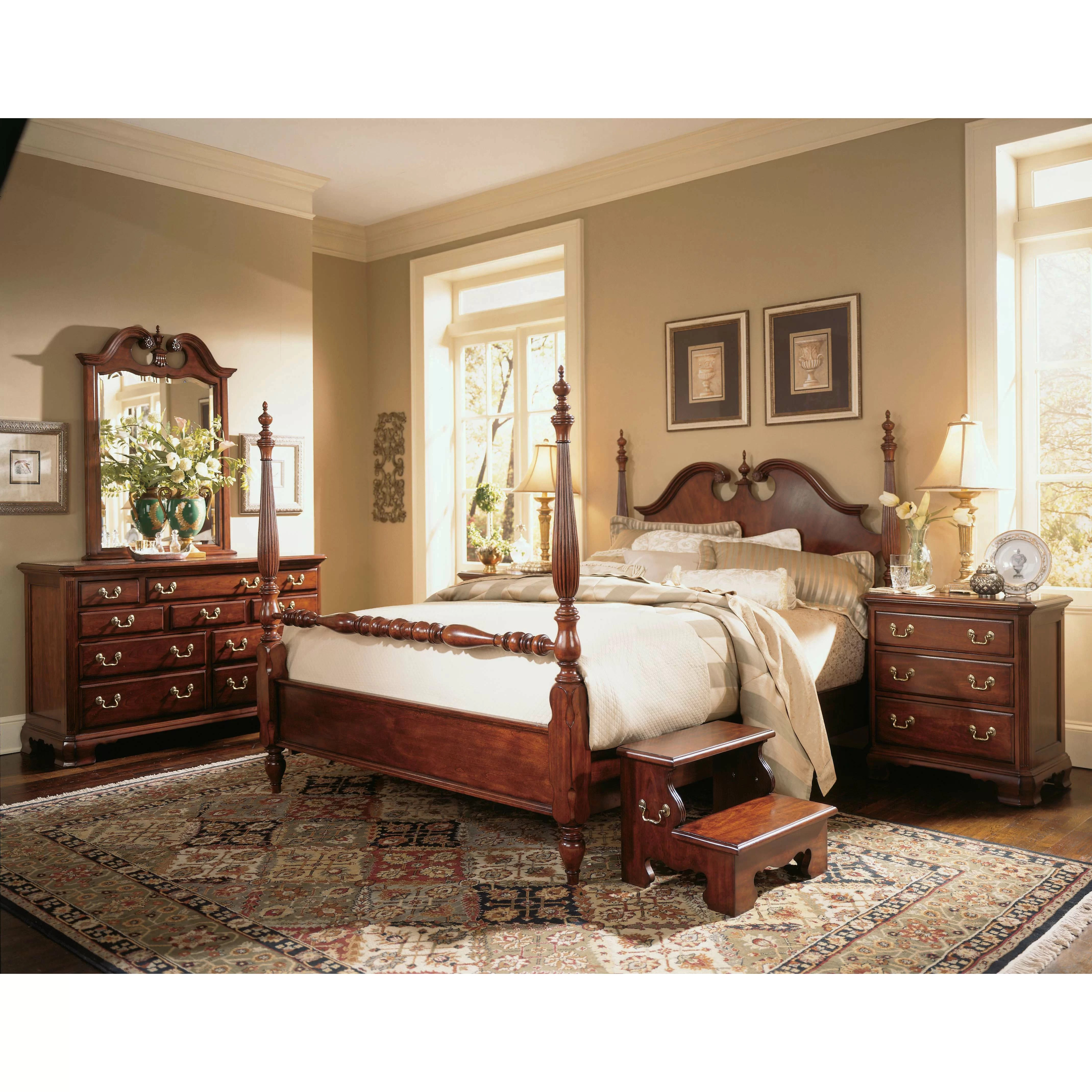 American Drew Cherry Grove Four Poster Customizable