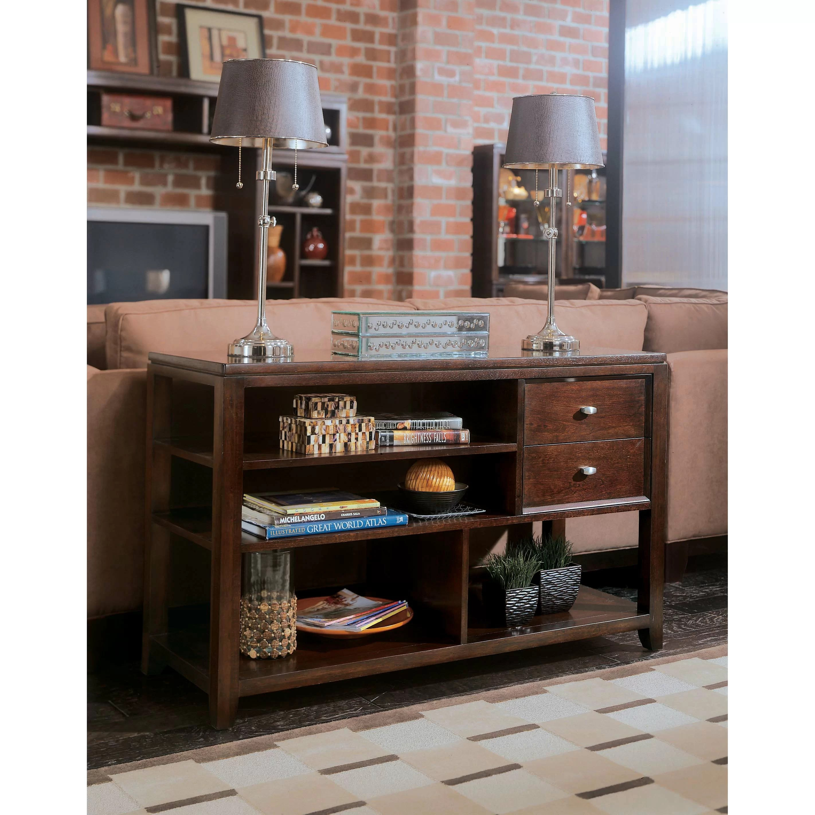 american drew tribecca sofa table latest designs of wooden sets console and reviews wayfair