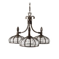 Uttermost Galeana 3 Light Chandelier & Reviews